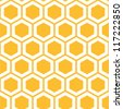Vector illustration of seamless geometric pattern with honeycombs - stock vector