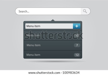 Vector illustration of search form