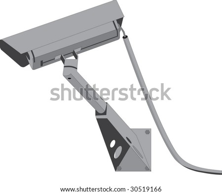 Vector illustration of security camera - stock vector