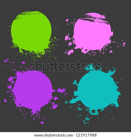 Vector illustration of Set of color splash - stock vector