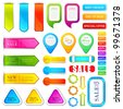 vector illustration of set of colorful label for tag - stock vector
