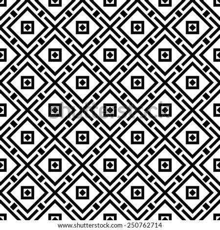 Vector Illustration of Set of Geometric Seamless Pattern for Design, Website, Background, Banner. Element for Wallpaper or Textile. Black and White Retro Texture Template - stock vector