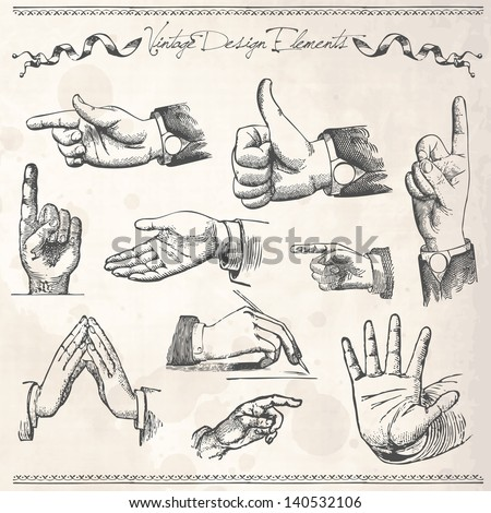 how to draw a hand pointing