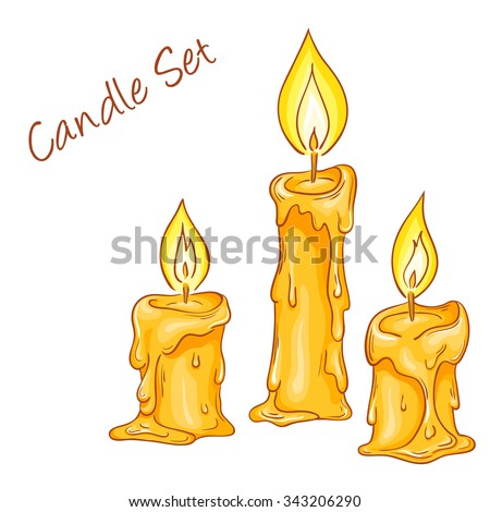 Melting Candle Stock Images, Royalty-Free - 46.5KB