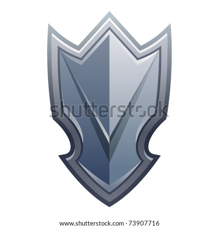 Vector illustration of shield icon - stock vector