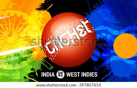 Vector illustration of shiny cricket ball of different participating cricket countries with grungy  background. - stock vector