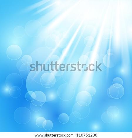 Vector illustration of shiny rays - stock vector