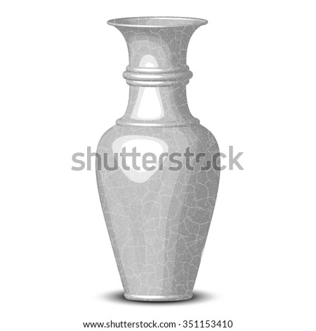 Vector illustration of shiny vase
