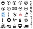 Vector illustration of shipping icons. - stock photo