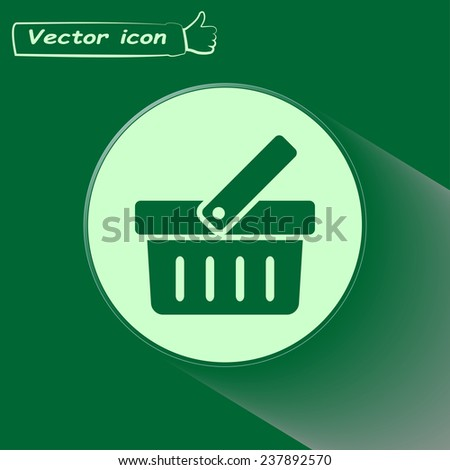 Vector illustration of shopping cart - stock vector