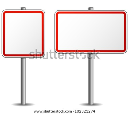 vector illustration of signpost empty on white background - stock vector