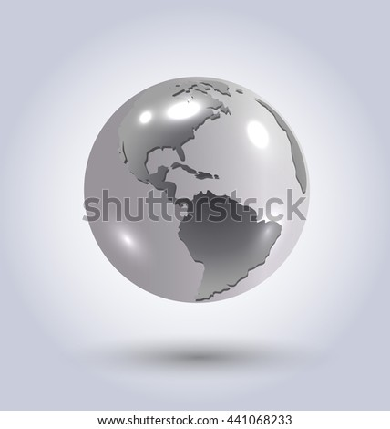Vector illustration of silver earth