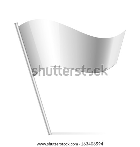 Vector illustration of silver flag - stock vector