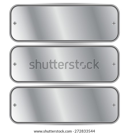 Vector illustration of Silver metal - stock vector