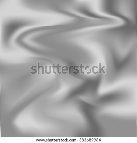 Vector illustration of silver metal background - stock vector