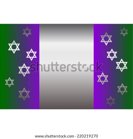 Vector illustration of Silver stars on a green - purple background - stock vector
