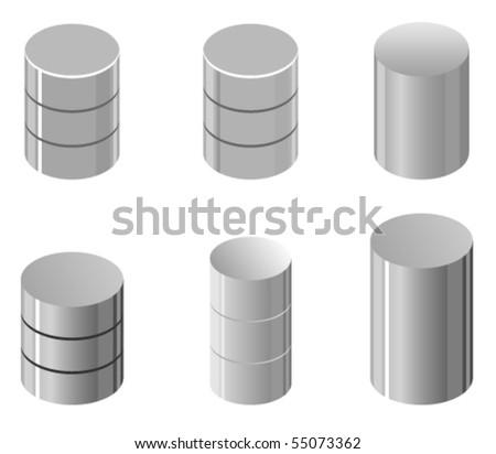 Vector illustration of simple database representation - stock vector