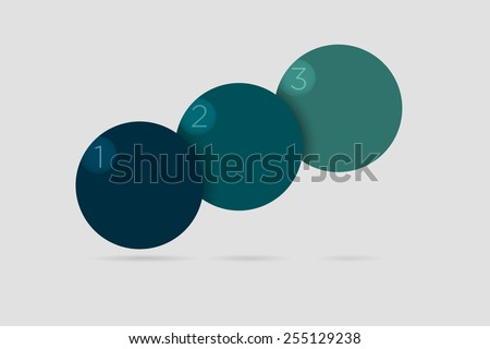 Vector illustration of simple infographics in blue color over grey background  - stock vector