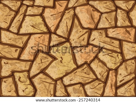 Vector illustration of simple stone seamless pattern - stock vector