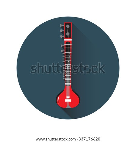 Vector illustration of sitar