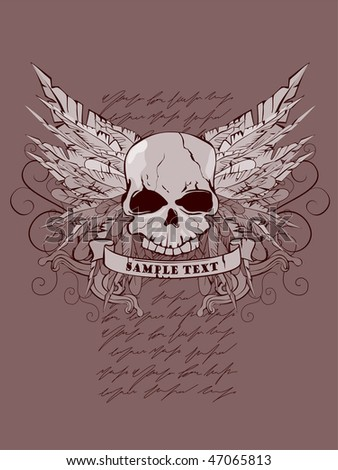 devil wings vector illustration of skull vector illustration of skull
