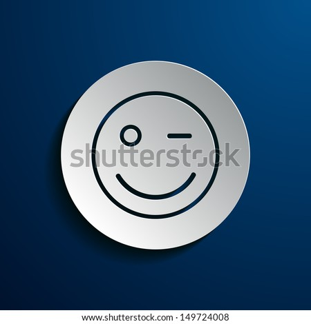 vector illustration of smiley images - stock vector