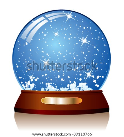 vector illustration of snow globe - stock vector