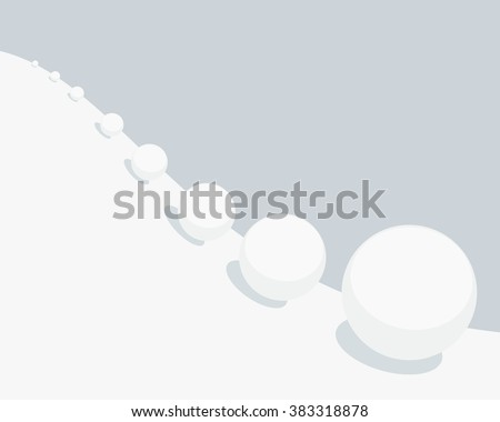 Vector illustration of snowball effect  - stock vector