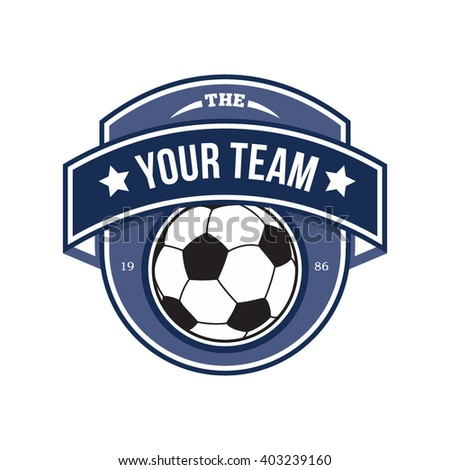 Vector illustration of soccer football crest and logo perfect for soccer competition or soccer teams