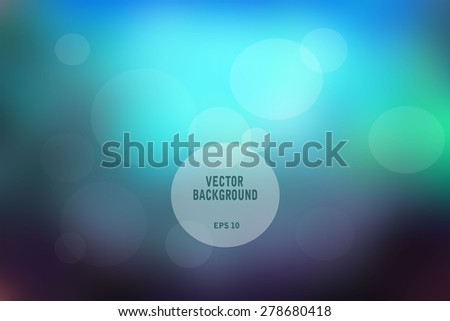 Vector illustration of soft blurry colored abstract background.  Vector illustration EPS10 - stock vector