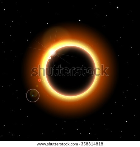Vector illustration of solar eclipse for your design