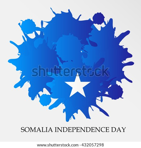 Vector illustration of Somalia independence day.