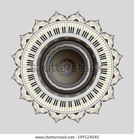 Vector illustration of speaker and  piano?eps10? - stock vector