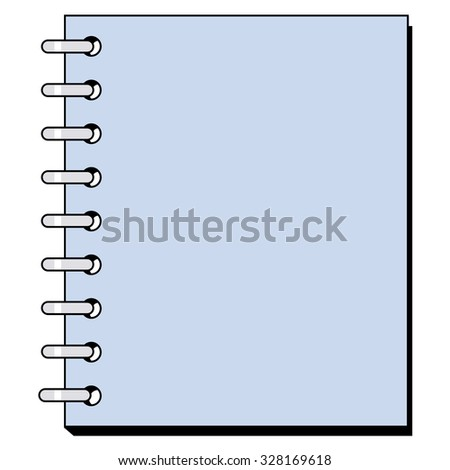 vector illustration of spiral copybook