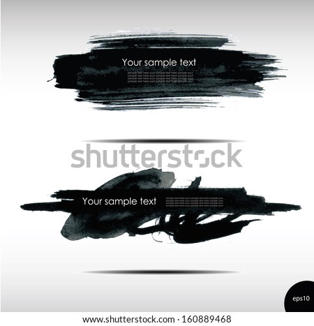 Vector illustration of Splash banners set - stock vector