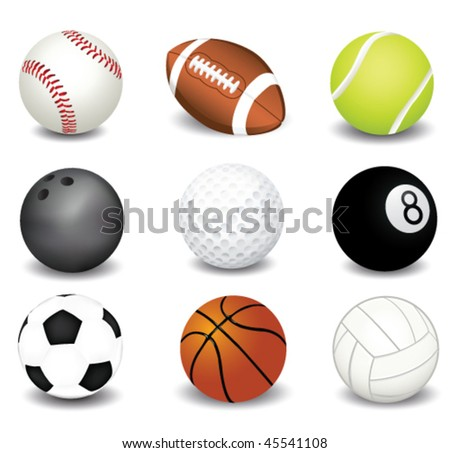vector illustration of sport balls - stock vector