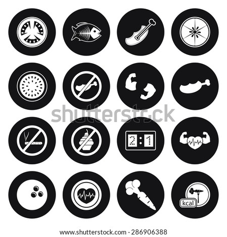 Vector illustration of sport set icon
