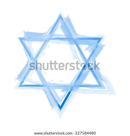 Vector illustration of star of david - stock vector