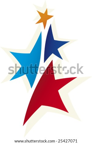Vector illustration of stars logo in vibrant colors.