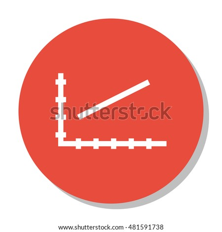 Vector Illustration Of Statistics Icon On Line Chart Graph In Trendy Flat Style. Statistics Isolated Icon For Web, Mobile And Infographics Design, EPS10.