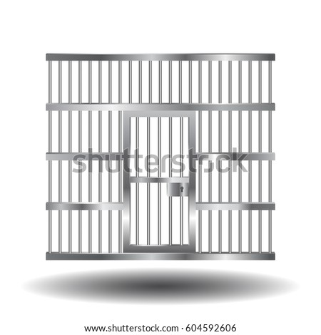 Vector illustration of steel prison door with bars and lock. Realistic style.  sc 1 st  Shutterstock & Vector Illustration Steel Prison Door Bars Stock Vector (2018 ...