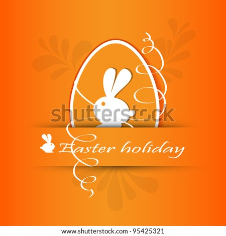 Vector illustration of Stickers set easter - stock vector