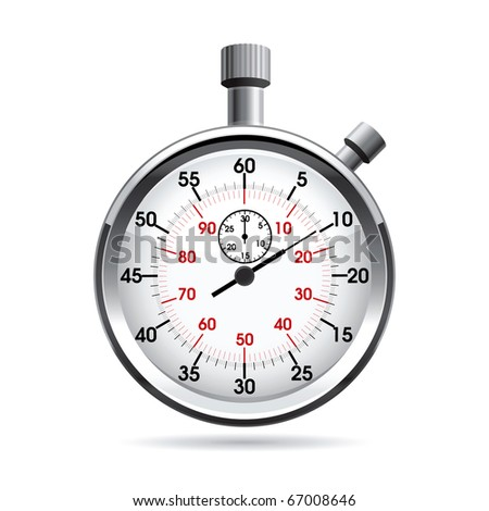 Vector illustration of stop watch. - stock vector