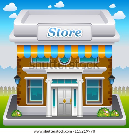 Vector illustration of store icon