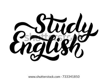 Vector illustration study english text language stock vector 2018