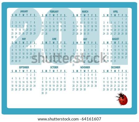 Vector Illustration of style design Calendar for 2011 - stock vector