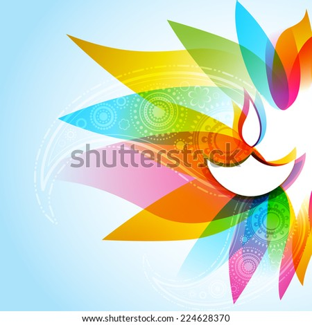 Vector illustration of stylish diwali background - stock vector