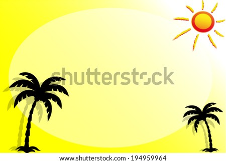 Vector illustration of summer background concept - stock vector