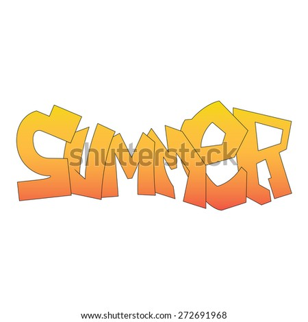 vector illustration of summer letters - stock vector