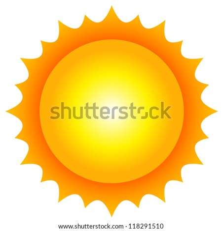 Vector illustration of sun - stock vector